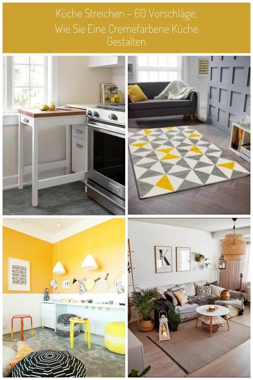 Küche Streichen 60 Vorschläge Wie Sie Eine Cremefarbene Küche Gestalten Gelbe Creme Wände Bodenfliese Küchen Streichen Küche Gestalten Küche Cremefarben