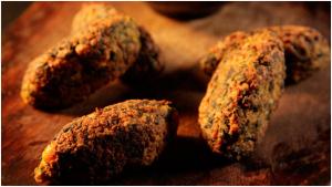 Spinach Koftas Recipe Vegetarian with Tahini Dressing