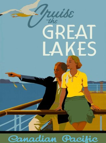 Cruise-the-Great-Lakes-Michigan-United-States-Travel-Advertisement-Poster-2