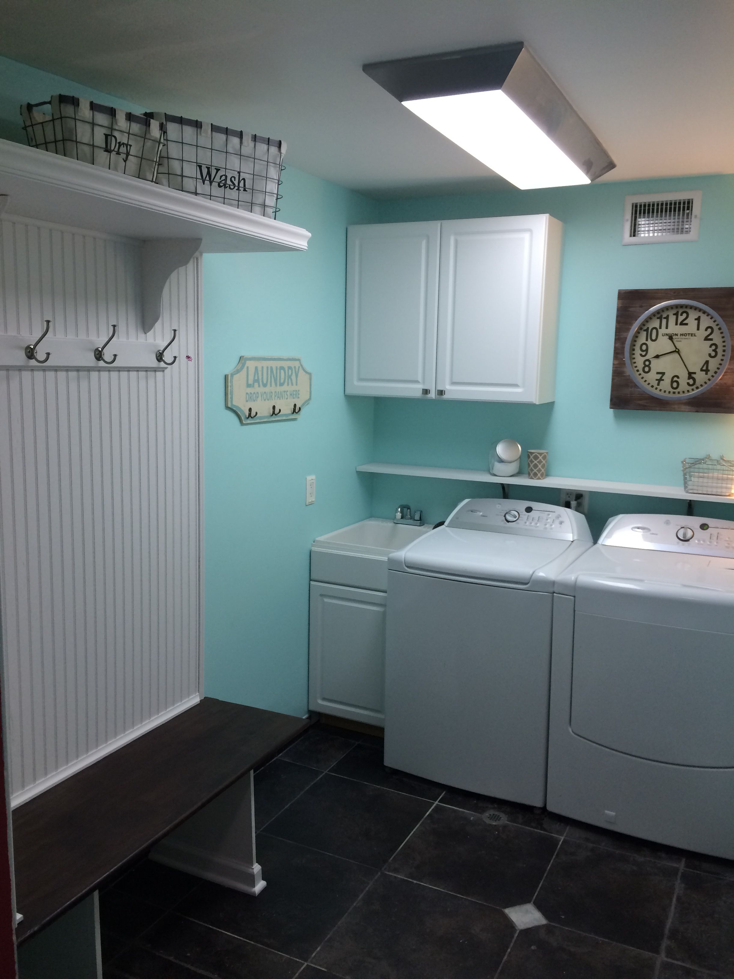 mud room remodel tame teal from sherwin williams teal on paint for laundry room floor ideas images id=17799