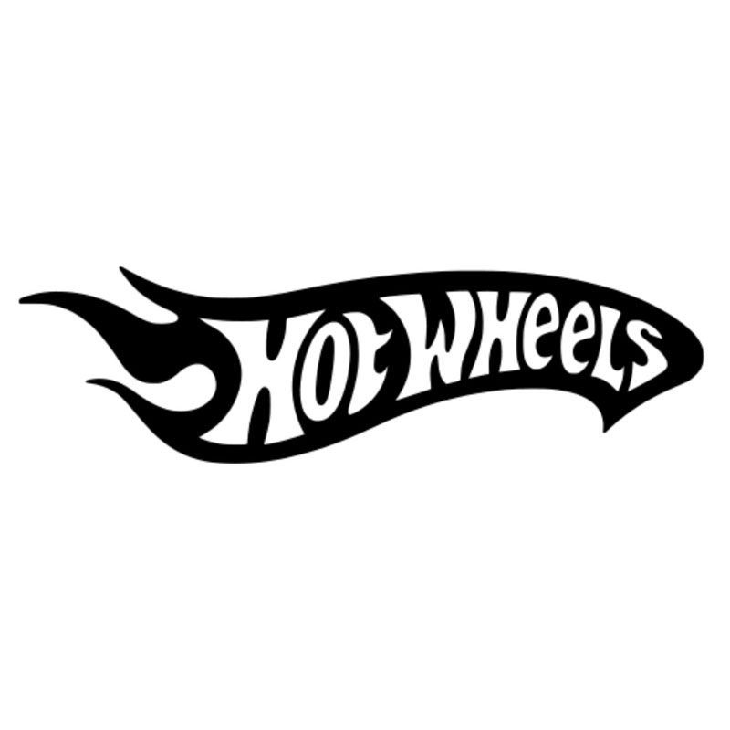 Wholesale 5pcs10pcs20 3cm5 8cm hot wheels vinyl decal sticker car truck creative sticker decoration car styling black sliver