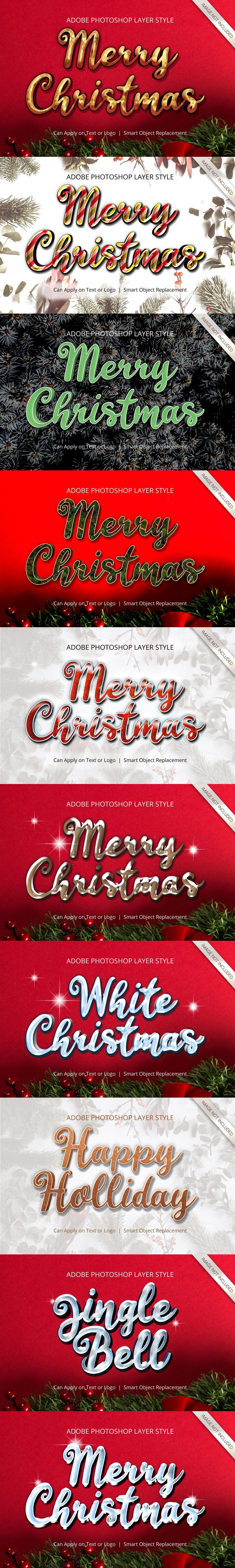 Photoshop Christmas Layer Style