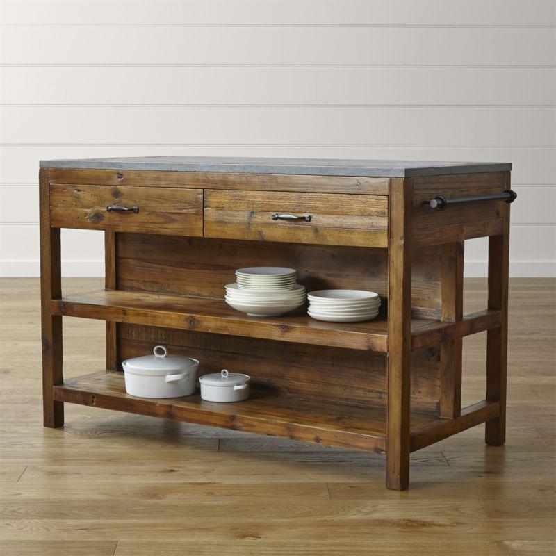 Bluestone Reclaimed Wood Kitchen Island   Kitchen   Pinterest ...