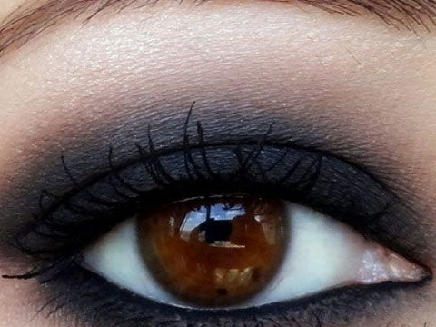 Black Smokey Eyes - Click Pic for 18 Makeup Tips for Brown Eyed Girls