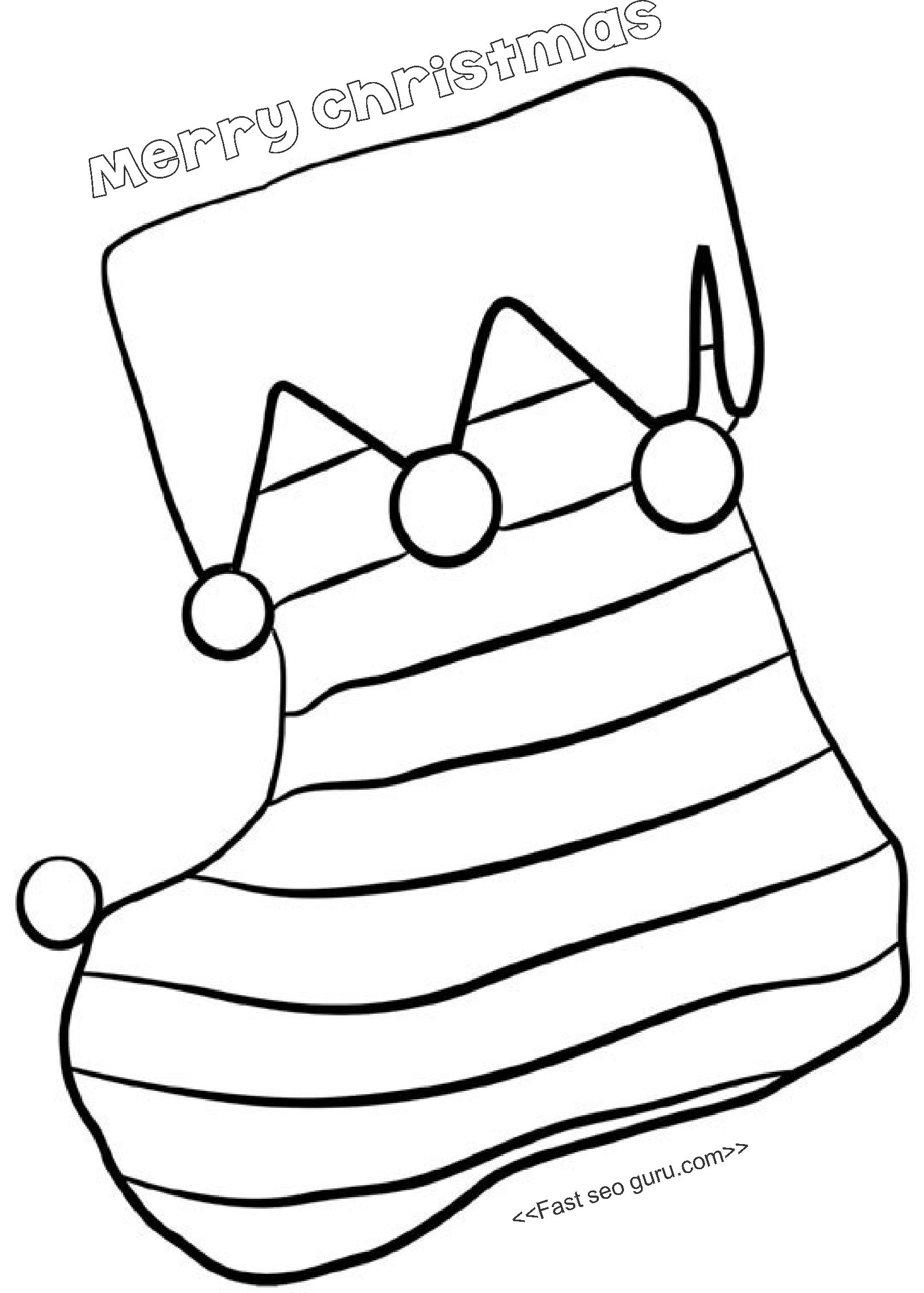 Printable Coloring Pages of Christmas Stocking With