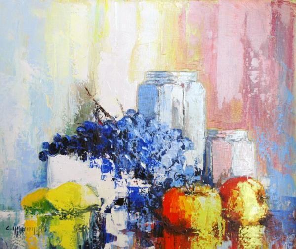 Peinture celestin messaggio nature morte aux pommes for Pinterest peinture