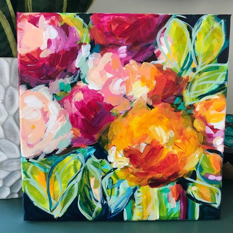 Learn How To Paint Abstract Flowers Malerei Kunst