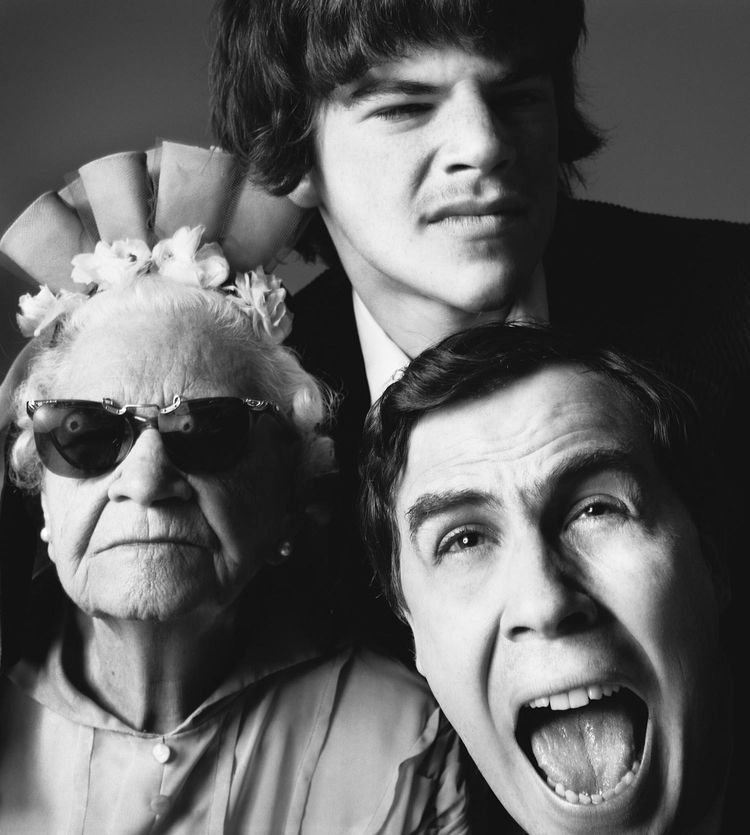 Richard Avedon - Robert Wilson, director, with Alma Hamilton and Christopher Knowles, April 7, 1975