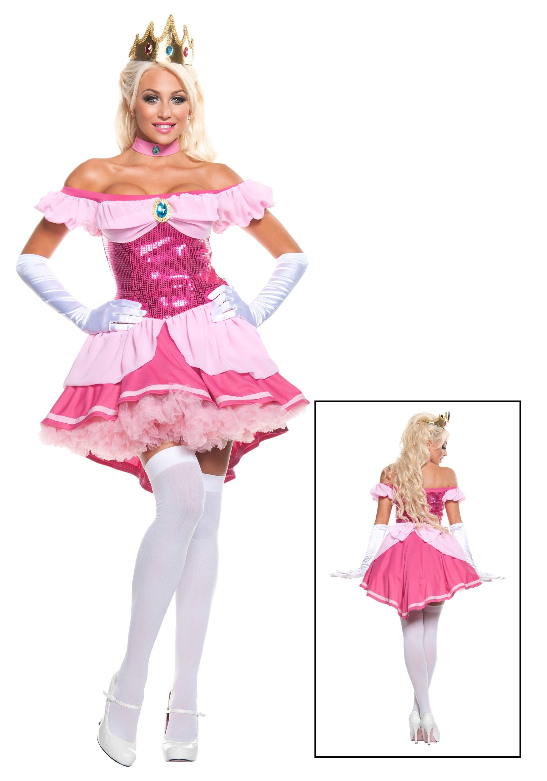 Plus Exclusive Sexy Sequin Pink Princess Costume  7002663b2
