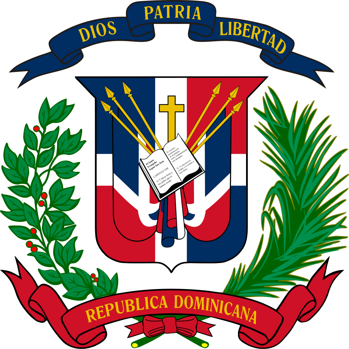Archivo Coat Of Arms Of The Dominican Republic Svg Dominican Republic Flag Republic Flag Dominican Republic History