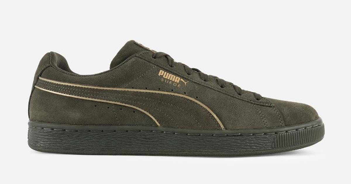 half off 89ddb 43062 Puma Suede Foil FS Olive  40 Shipped at Villa (Retail  70)