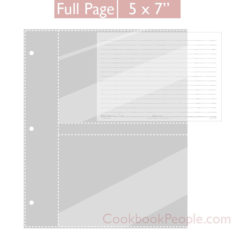Full Page 5x7 Recipe Card Protectors For 3 Ring Binder 20ea Recipe Cards Recipe Cards Template Recipe Card Set