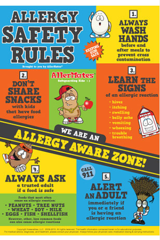 Involve your kids in food allergy safety rules with these