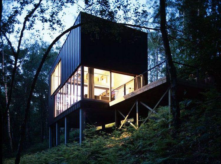Case Piccole Da Sogno : Foto di case moderne costruite nei boschi architettura