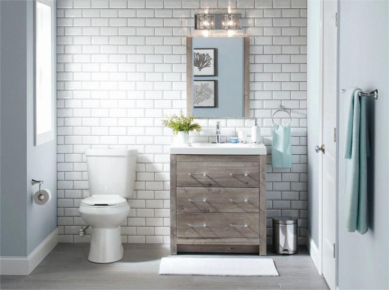 Bath Remodel Before And After Remodelingbeforeandafter In 2020 Home Depot Bathroom Home Depot Bathroom Tile Bathroom Installation