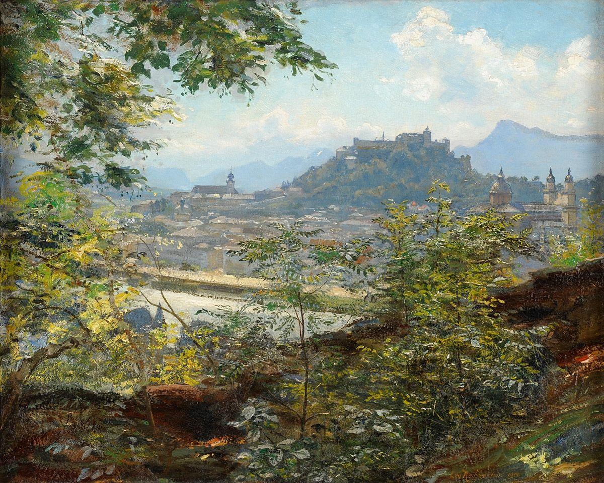 fleurdulys:  View of Salzburg - Leo Reiffenstein