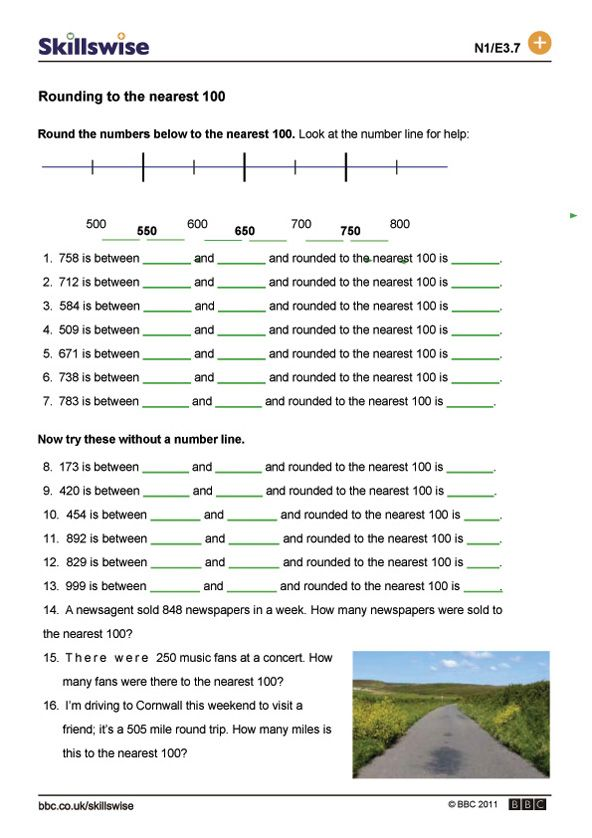 Rounding and estimating worksheet preview – Rounding and Estimating Worksheets