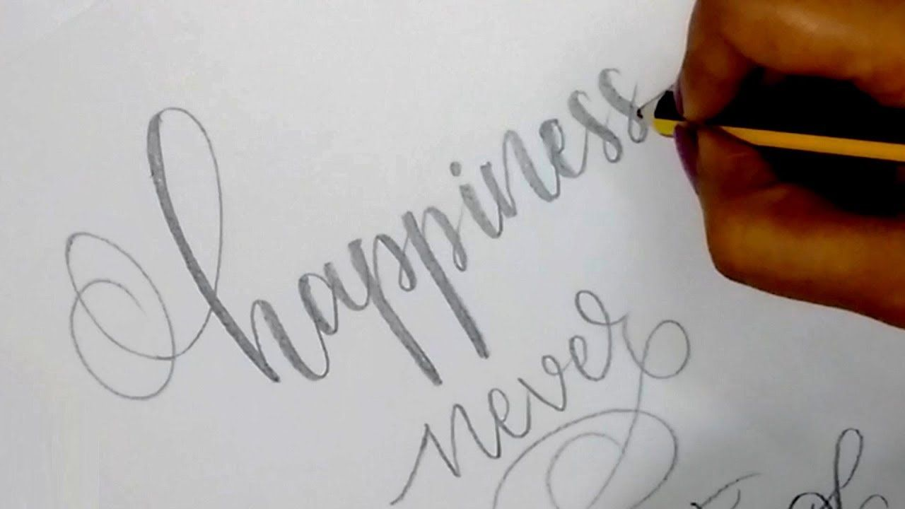 How to write in modern calligraphy with pencil easy