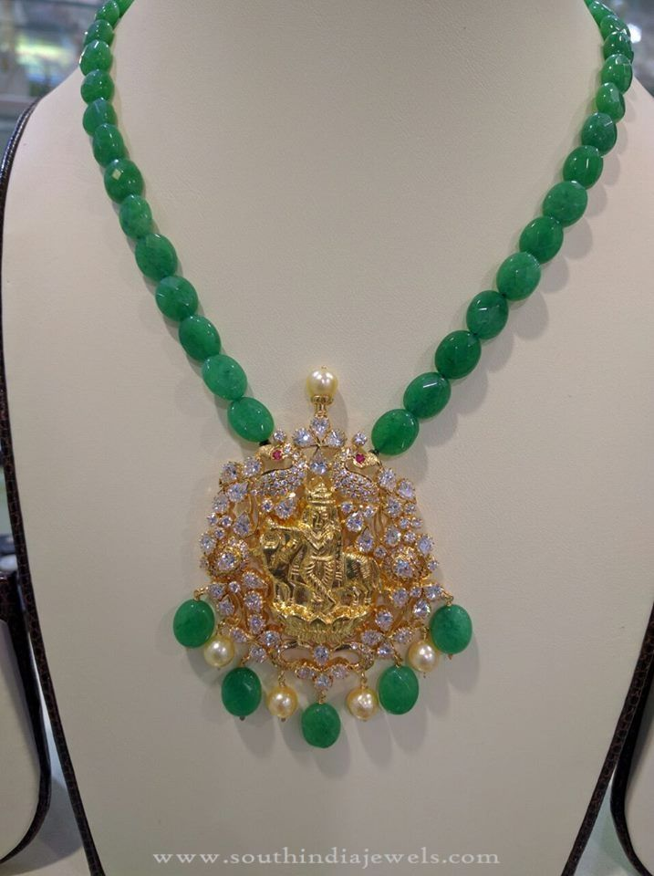 Gold Emerald Beads Necklace | Necklace designs, Gold necklaces and ...