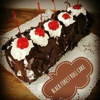 Resep Black Forest Roll Cake 6 Telur V Oleh Tintin Rayner Resep Kue Gulung Kue Resep Kue