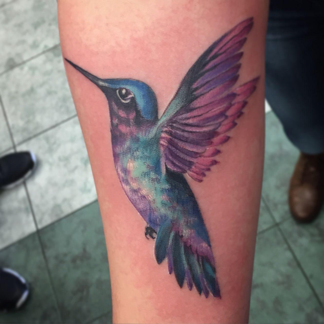 Hummingbird Tattoo By Andrea Dawn Nanaimo B C Hummingbird