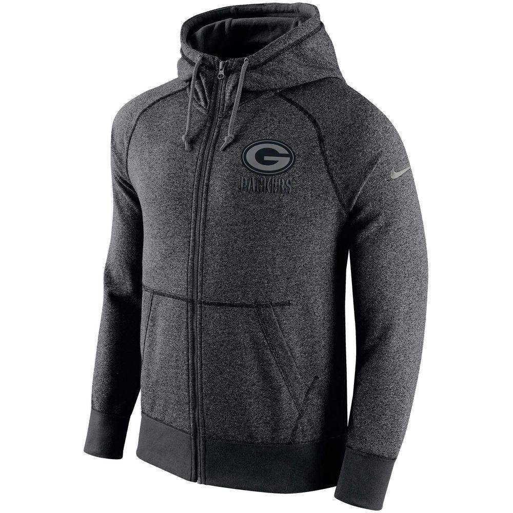 Men S Green Bay Packers Nike Heather Gray Gridiron Gray Full Zip Hoodie Hooded Sweatshirt Men Hoodies Hoodies Men [ 1000 x 1000 Pixel ]