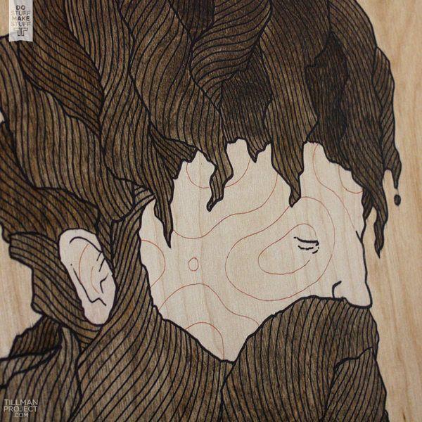 Wood Works I by Clint Reid, via Behance