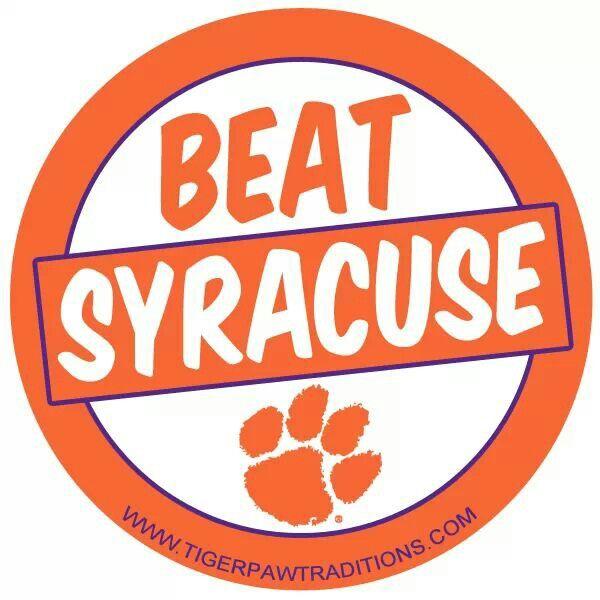 Beat Syracuse Clemson Football Clemson Tigers Football Clemson