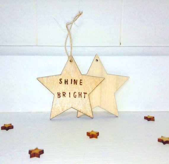 Shine bright small wood burned sign by lifeslittleblessing ...