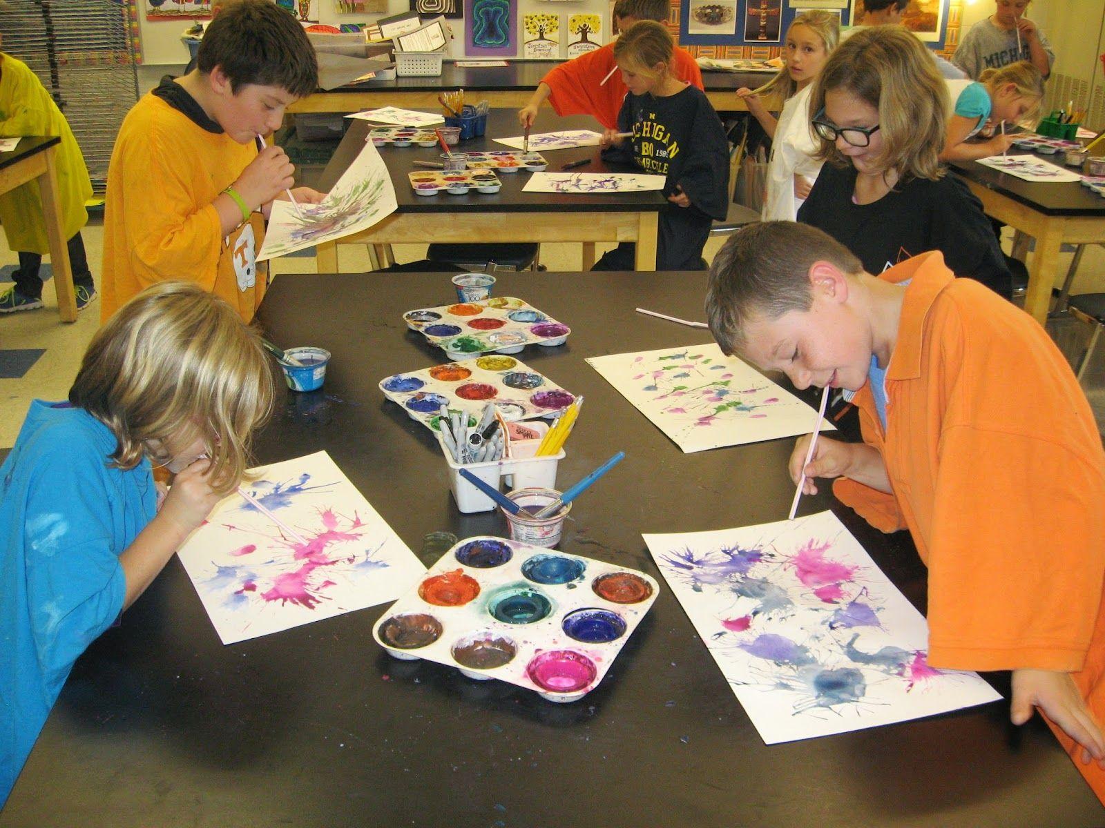 Jamestown Elementary Art Blog 3rd Grade Jackson Pollock