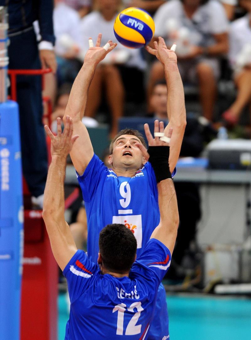 Nikola Grbic And Andrija Geric Volleyball Players Volleyball Players