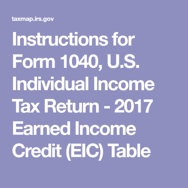 Instructions For Form 1040 U S Individual Income Tax