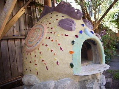 purple dragon outdoor pizza oven horno with mosaic flat marbles