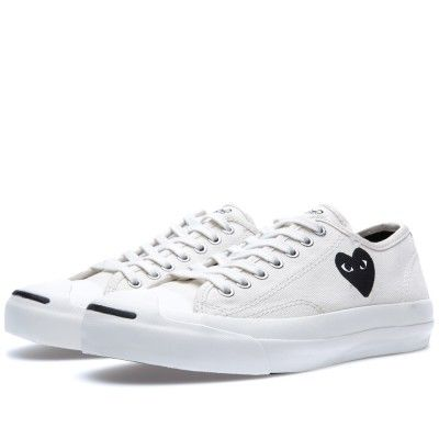 3ef94102971b Comme des Garcons Play x Converse Jack Purcell Ox (White   Black ...