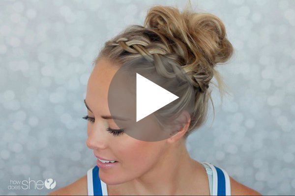 this gym hairstyle tutorial is perfect for keeping your hair out of your face and off your neck, while still looking cute!