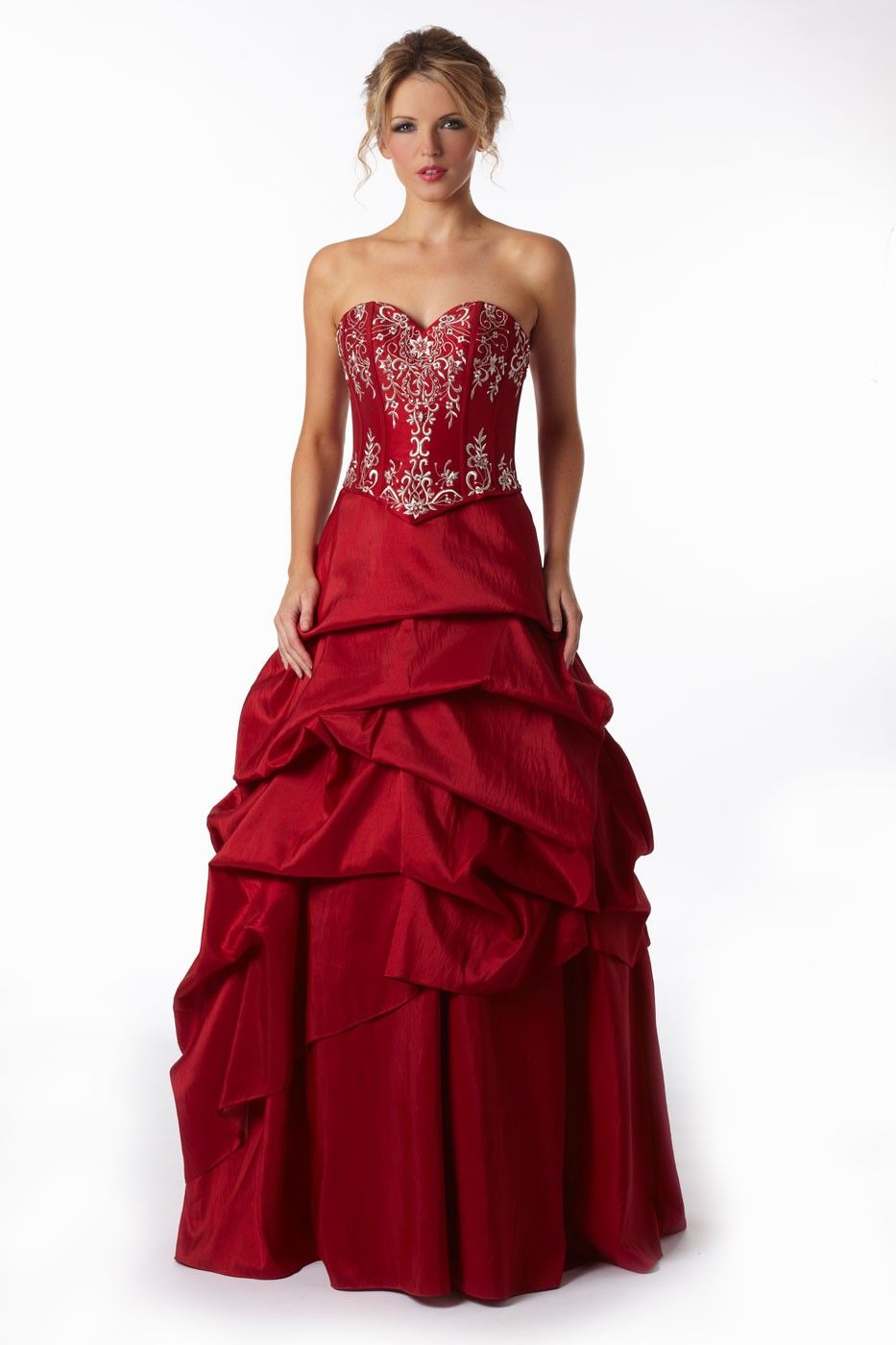 Rouge Prom Dress Inspired by the avant-garde style of Moulin Rouge ...