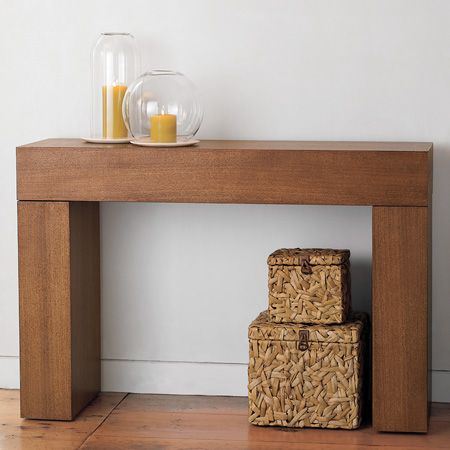 Steal Of The Day West Elm Chunky Console Table Modern Console Tables Console Table Contemporary Console Table