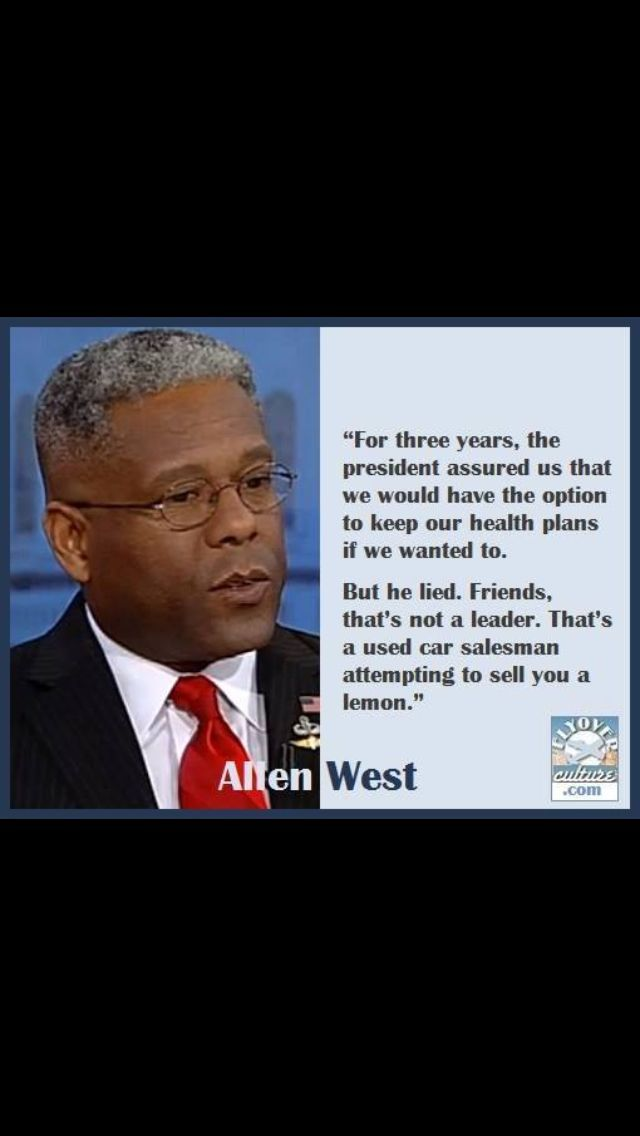 Allen West and now it is almost 5 years