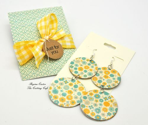 circle paper earrings - using the new layered circle template set - circle template