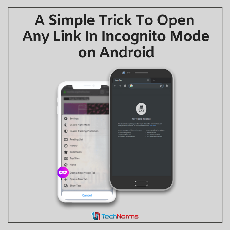 How To Open Links Directly In Incognito On Android Android Incognito Samsung Galaxy Phone