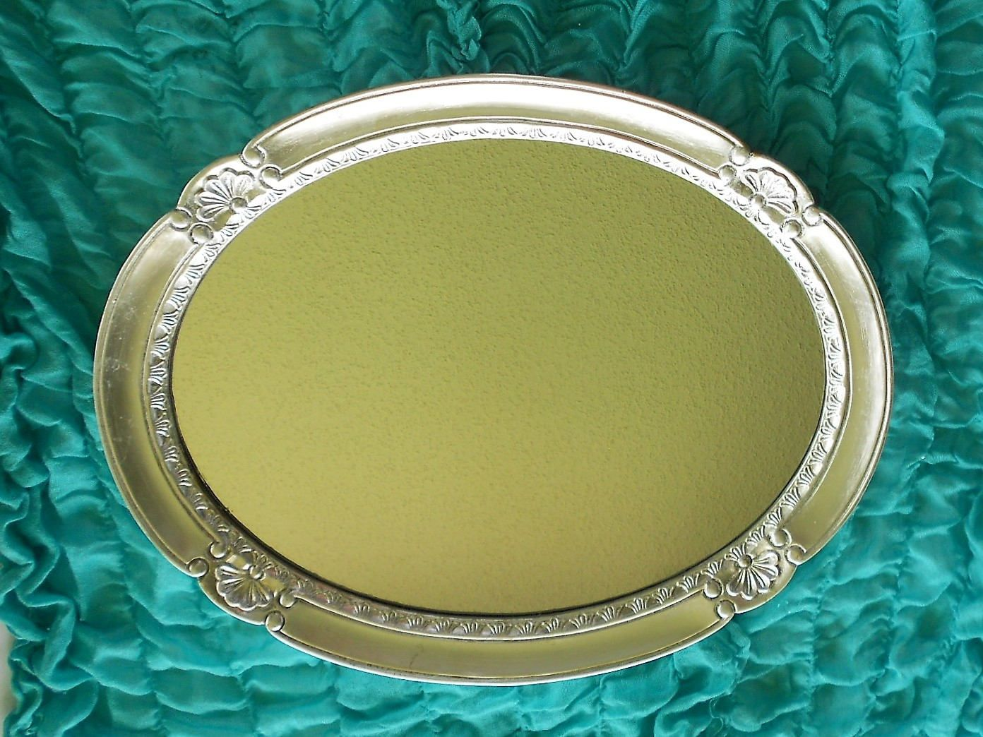 Oval Wall Mirror, Silver Wall Frame, Oval Frame, Wall Mirror, Mirror ...