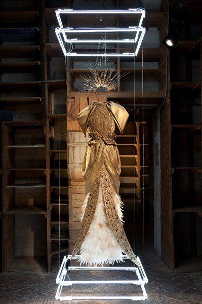 Rodarte Pitti Immagine Collection Feather Fashion Couture