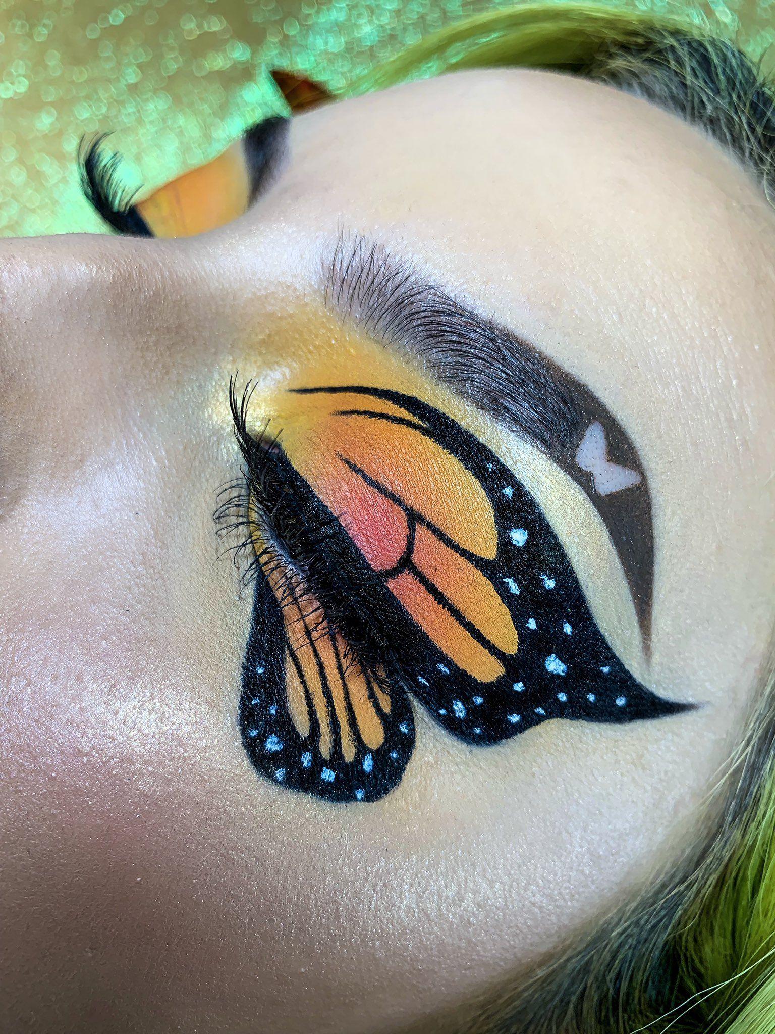 Vickory On Twitter Butterfly Makeup Creative Eye Makeup Eye Makeup Art