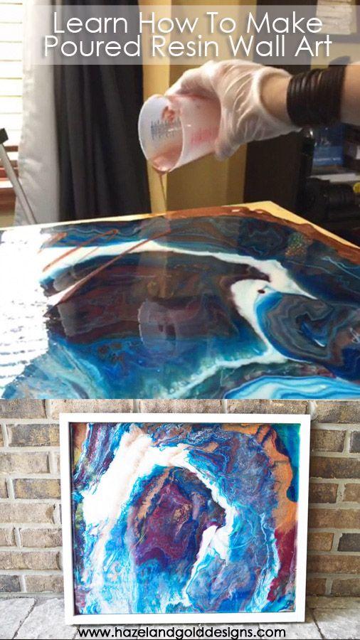 DIY Poured Resin Wall Art - Hazel + Gold Designs