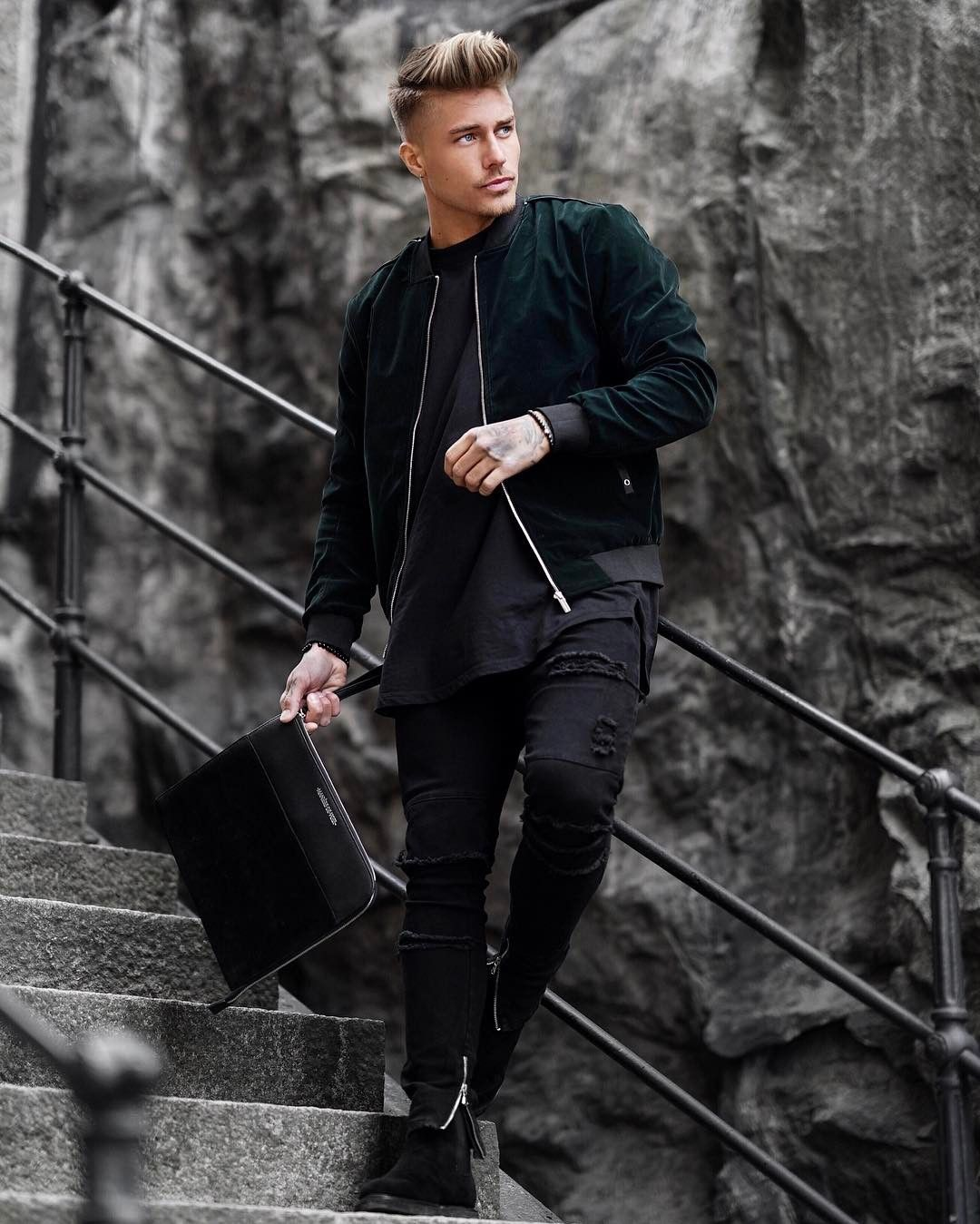 Pin by Dave on Black   Mens fashion, Johnny edlind, All ...