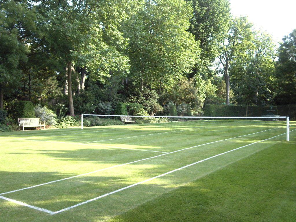 Tennis Anyone Grass Court Habituallychic 007 Tennis Court Backyard Tennis Court Tennis Court Design