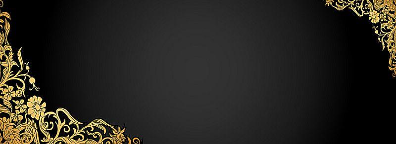 خلفية نمط الذهب الأسود Background Patterns Gold Pattern Black Background Wallpaper