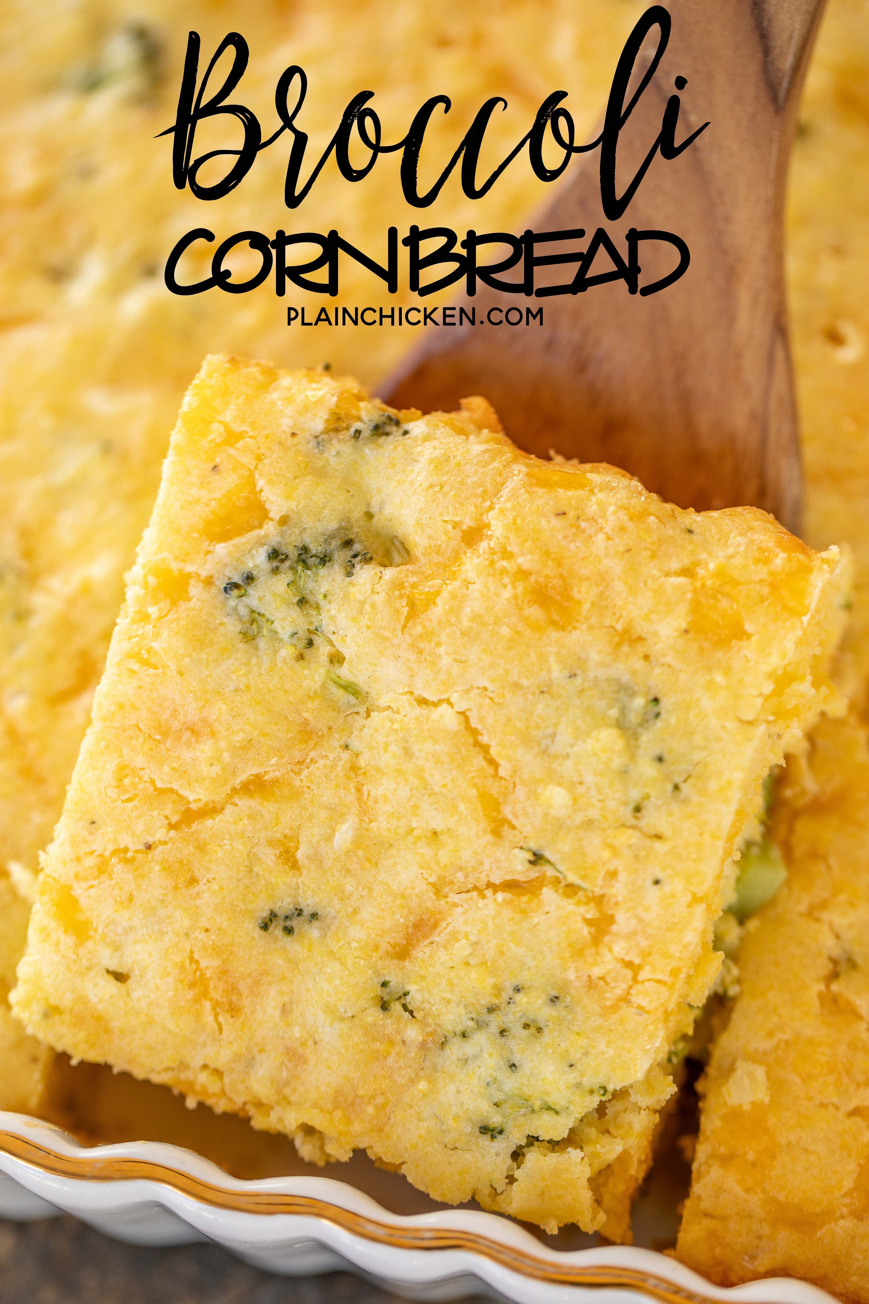 Broccoli Cornbread Seriously Delicious So Simple And Tastes Great Perfect For All Your Summer Cookouts And Pot Broccoli Cornbread Cornbread Sweet Cornbread