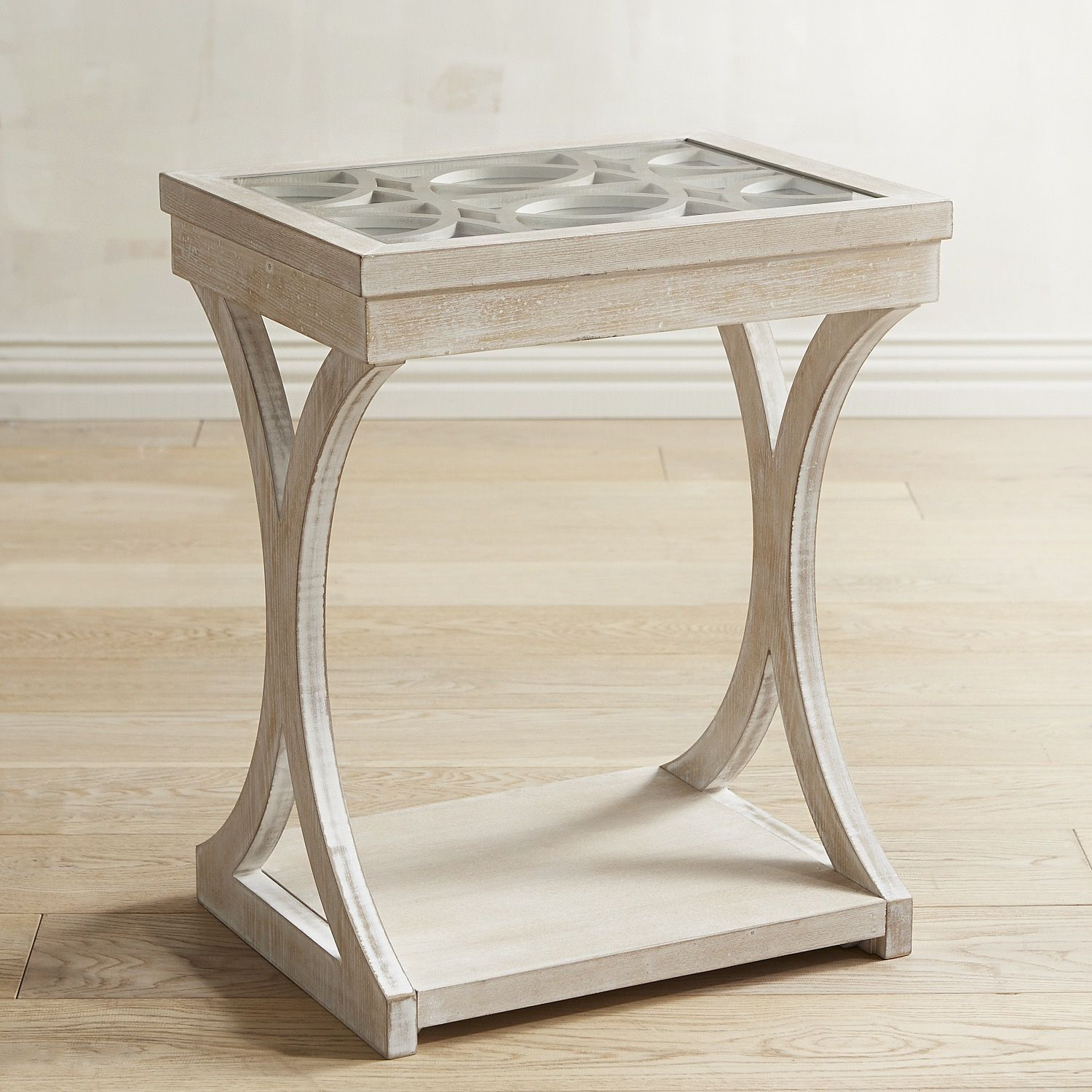 Mirella Mirrored End Table Gray Products Pinterest