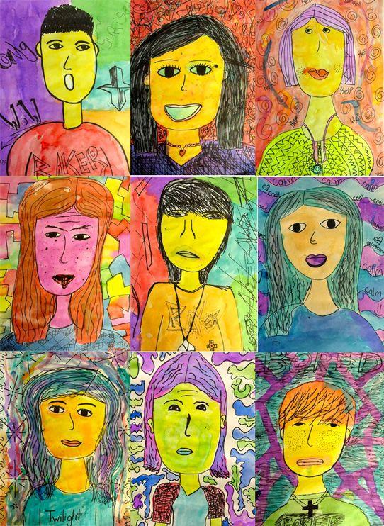 Emotion Portraits | Art, Portraits for kids, Art lessons